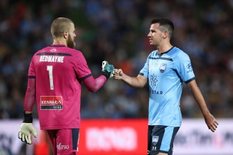 Ryan McGowan (right) says Sydney FC will fear no one in next year's AFC Champions League - including Ange Postecoglou's Yokohama F. Marinos.