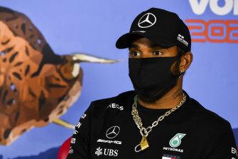 Lewis Hamilton talking at Spielberg, Austria this week.