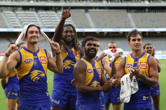 Nic Naitanui says the Eagles are preparing for a temporary move to Victoria.