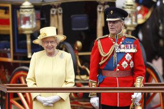 Queen Elizabeth II and Prince Philip in June 2012.