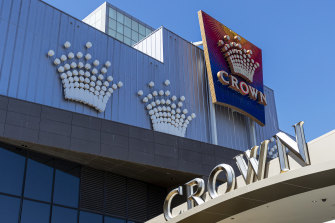 Crown's Melbourne casino remains closed due to the COVID-19 pandemic.