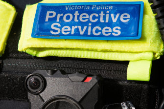 Protective Services Officers have many of the powers of full police, including the right to film you.
