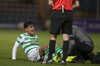 Daniel Arzani hurt his ACL on debut with Celtic.