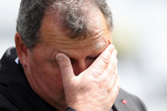 Ian Foster was not impressed with the complacency coming out of the New Zealand rugby media.