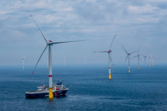The Star of the South would look similar to this, the Veja Mate offshore wind farm in Germany.