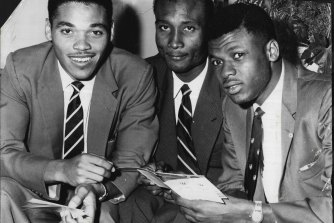 Peter Lashley (left) in 1960.