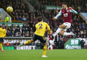 A chance goes begging for Burnley's Dwight McNeil at Turf Moor on Sunday.