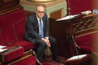 Adem Somyurek in Parliament in December last year.
