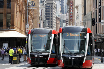 Sydney's new light rail is facing its first Monday morning test.