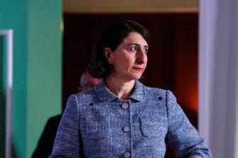 NSW Premier Gladys Berejiklian delivers the latest COVID-19 figures on Saturday.