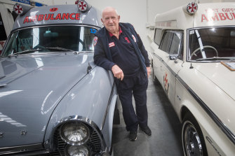 Chas Martin worked as a paramedic for 40 years before starting the Ambulance History Museum in Bayswater.