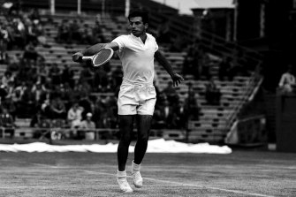 Ashley Cooper at the Australian Open in 1958.