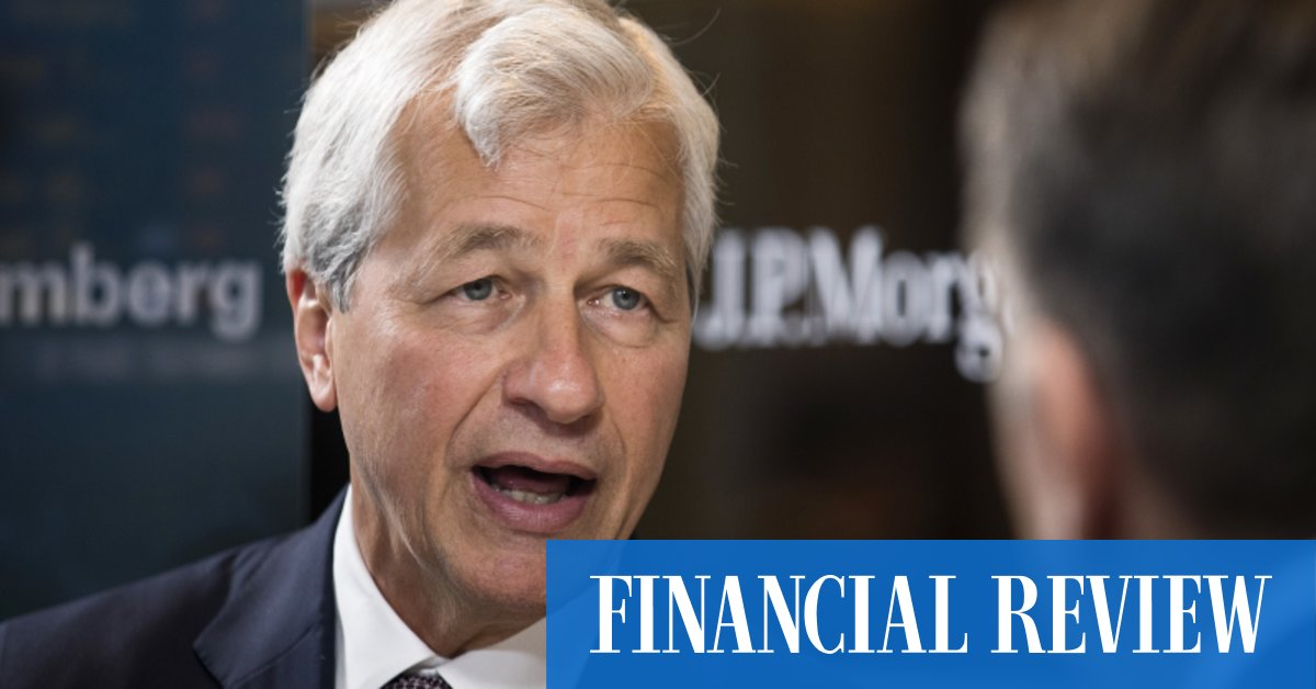 Dimon's report of banking's demise is exaggeratedThe Australian Financial Review