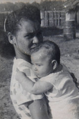Mary-Anne Bird with her Papuan mother Mary. The interpretation of regulations have been changed in relation to the citizenship of Australians born to mixed marriages in PNG.