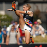 In full flight: The iconic image of Tayla Harris.