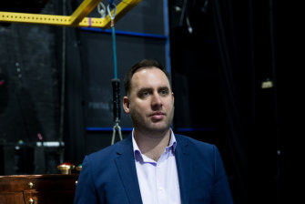Robbert Van der Zwaag show manager of Charlie and the Chocolate Factory.