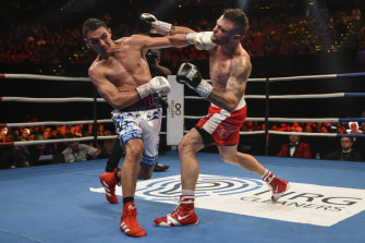 Tim Tszyu defeated Dwight Ritchie in front of a packed house at the ICC on Wednesday night.