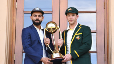 Captains Virat Kohli and Tim Paine.
