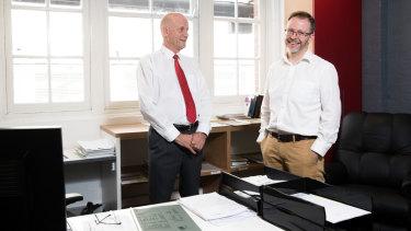 New Liberal Democrat senator Duncan Spender, who has replaced David Leyonhjelm, in his office in Drummoyne, Sydney.