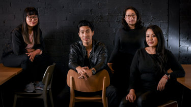 Crazy Rich Asians star Chris Pang, with some of the local #GoldOpen entrepreneurs: (l-r) Lisy Kane of Girl Geek Academy, Wenona Lok of Imagikai and Sheryl Thai of Cupcake Central.