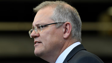 Prime Minister Scott Morrison in Sydney on Wednesday.