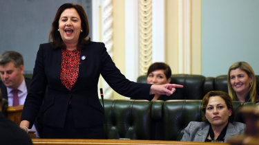 Queensland Premier Annastacia Palaszczuk would not explain what would happen if the CCC decided to pursue an investigation while Ms Trad was acting premier.
