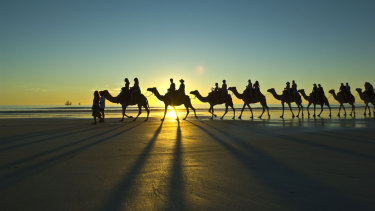 A camel ride on Cable Beach.