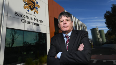 """""""Schools are going to be put in severe stress"""": Bacchus Marsh Grammar principal Andrew Neal."""