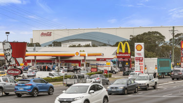 McDonalds fast food site on Briens Road in Northmead, Sydney