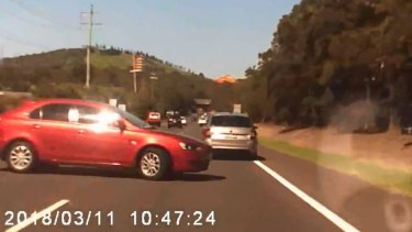 Sophie Kinnane's dashcam captured the moments before the collision.