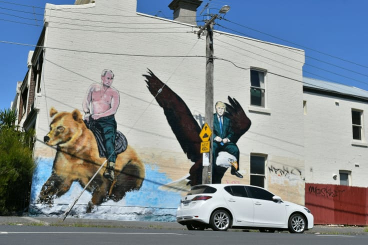 The US president inspired this street art in Melbourne.