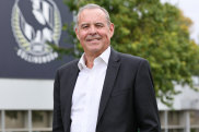 Collingwood president Mark Korda will stand down at the end of his term next year.