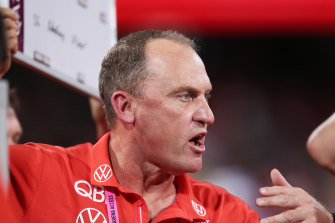 John Longmire and his Swans assistant coaches are self-isolating, the club has confirmed.