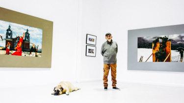 Clarity: Artist Peter Phillips in his Noosa studio.