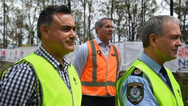 Deputy Premier and Minister responsible for Disaster Recovery John Barilaro, left.