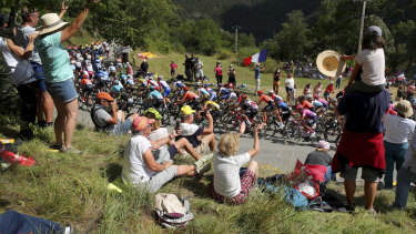 Crowds are already watching the Tour de France which started on August 29 and is due to finish on Sunday, September 20.