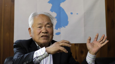 Kim Young-sik, 85, who said he was tortured after his capture by the South Korean regime in 1962.