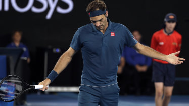 A dejected Roger Federer is out of the Australian Open.