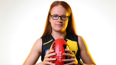 Sophie Molan is eyeing a spot in Richmond's midfield but also can play forward and back.