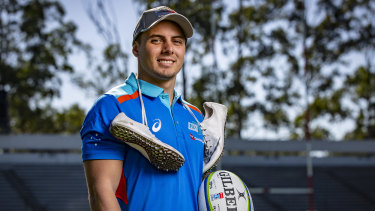 The fast and the curious: Australian sprinter Trae Williams has made the switch from athletics to sevens and could be the fastest rugby player in the world.