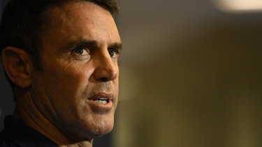 Must-win game: NSW coach Brad Fittler will travel to Perth with the new-look Blues on Monday..