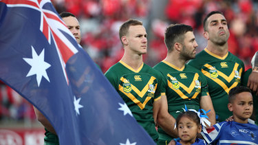 The Kangaroos lined up against Tonga in November 2019, the last time the Australian team played a Test match.
