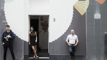 Melanie Perkins co -Founder and CEO at Canva and Cliff Obrecht, COO and Cameron Adams CPO in 2015.