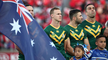 The Kangaroos lined up against Tonga in November last year.