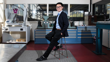 Jacky He, originally from China, is one of four candidates vying to run the Sydney University SRC.