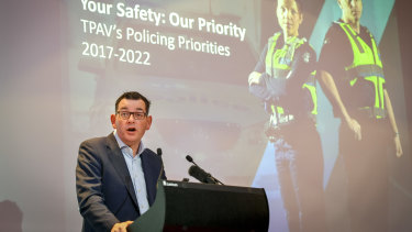 Daniel Andrews at Wednesday's conference.