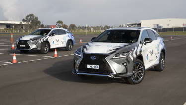 Lexus test vehicles use a 4G modem in the boot of the car to recieve warnings, but future cars will have this tech built in.
