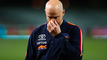 Coach Matthew Nicks was disappointed with the Crows' performance.