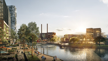 An artist's impression of the White Bay makeover.