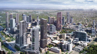 An artist's impression of Parramatta in coming years.